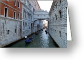 Venetian Architecture Greeting Cards - Bridge Of Sighs. Greeting Card by Terence Davis