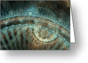 Fractal Greeting Cards - Bridge of Time Greeting Card by David April