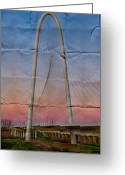 Signature Greeting Cards - Bridge on Paper Greeting Card by David Clanton