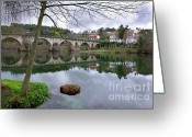 Village Greeting Cards - Bridge over Lima River Greeting Card by Carlos Caetano