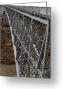 Grand Canyon Greeting Cards - Bridge over Marble Cayon Greeting Card by Dave Dilli