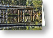 Art On Wall Greeting Cards - Bridge over Ovens River 2 Greeting Card by Kaye Menner