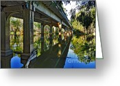 Archways Greeting Cards - Bridge over Ovens River Greeting Card by Kaye Menner