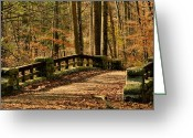 Landscape Photograpy Greeting Cards - Bridge over Pocantico Greeting Card by Bedford Shore Photography