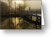 Still Water Greeting Cards - Bridge Over Still Waters Greeting Card by Wayne Archer