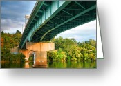 Monongahela River Greeting Cards - Bridge Over The Monongahela Greeting Card by Steven Ainsworth