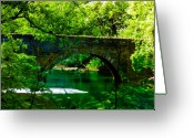 Fairmount Park Greeting Cards - Bridge Over the Wissahickon Greeting Card by Bill Cannon