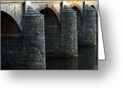 Debbie Johnson Greeting Cards - Bridge Pillars Greeting Card by Deborah  Crew-Johnson