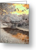 Missouri Photographer Greeting Cards - Bridge Reflections Greeting Card by Jane Linders