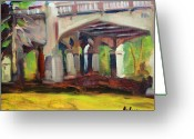 Petoskey Painting Greeting Cards - Bridge Shadows Greeting Card by Kurt Anderson 