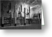 Spokane Greeting Cards - Bridge St Power Substation 2 - Spokane Washington Greeting Card by Daniel Hagerman