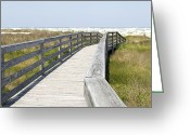 Florida Bridge Digital Art Greeting Cards - Bridge to the Beach Greeting Card by Glennis Siverson