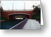 Florida Bridge Mixed Media Greeting Cards - Bridge to the Old World Greeting Card by Joseph Szweda