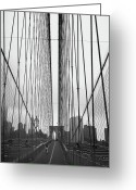 Twin Towers World Trade Center Greeting Cards - Bridge Work Greeting Card by Joann Vitali