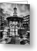 Raining Greeting Cards - Bridgeton Cross Bandstand Glasgow Greeting Card by John Farnan