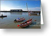 Coble Landing Greeting Cards - Bridlington Shell Fish Harbour Greeting Card by David  Hollingworth