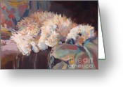 Apricot Painting Greeting Cards - Brie as Odalisque Greeting Card by Kimberly Santini