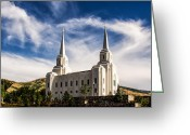 Mormon Temple Photography Greeting Cards - Brigham City Temple NW Greeting Card by La Rae  Roberts