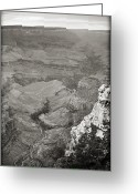 Az Greeting Cards - Bright Angel Trail Black and White Greeting Card by Ricky Barnard
