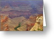 Az Greeting Cards - Bright Angel Trail Greeting Card by Ricky Barnard