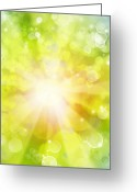 Explosion Photo Greeting Cards - Bright background Greeting Card by Les Cunliffe
