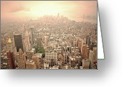 Manhattan Greeting Cards - Bright Financial District In Nyc Greeting Card by Daniela Duncan