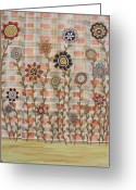 Flowers Pastels Greeting Cards - Bright Spring Greeting Card by Rain Ririn