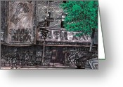Organized Crime Greeting Cards - Brighton Beach NYC Greeting Card by Al Goldfarb