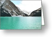 Canadian Rockies Greeting Cards - Brilliance of Louise Greeting Card by Andrea Hazel Ihlefeld