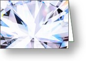 Glowing Greeting Cards - Brilliant Diamond  Greeting Card by Setsiri Silapasuwanchai
