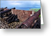 Canons Greeting Cards - Brimstone Hill Fortress Canons Greeting Card by Thomas R Fletcher