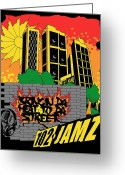 Freedom Fighter Brand Greeting Cards - Bringin Da Heat to Da Street Greeting Card by Scarlett Royal