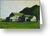 Pa Barns Greeting Cards - Brions farm Greeting Card by Bibi Snelderwaard Brion