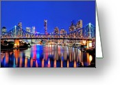 Royalty Greeting Cards - Brisbane In Late Evening Greeting Card by Chris Smith
