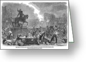 Intoxicated Greeting Cards - Bristol: Reform Riot, 1831 Greeting Card by Granger