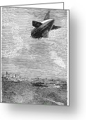 Raf Greeting Cards - British Airship, 1919 Greeting Card by Granger
