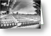 Silver Gelatin Greeting Cards - British Cemetery Greeting Card by Simon Marsden