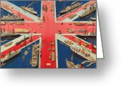 New Britain Greeting Cards - British Empire Greeting Card by Hugh Williams