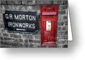 Plaque Greeting Cards - British Mail Box Greeting Card by Adrian Evans