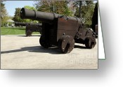 Pioneer Park Greeting Cards - British Naval Cannon Greeting Card by Erin Paul Donovan