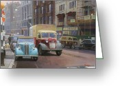 Commission Greeting Cards - British Railways Austin K2 Greeting Card by Mike  Jeffries