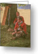Frontier Art Greeting Cards - British Soldiers in Camp Greeting Card by Randy Steele