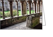 Cathedral Greeting Cards - Brittany Cloister  Greeting Card by Olivier Le Queinec