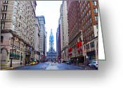 Avenue Of The Arts Greeting Cards - Broad Street Avenue of the Arts Greeting Card by Bill Cannon
