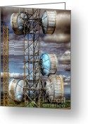 Broadcast Antenna Greeting Cards - Broadcast Greeting Card by Niels Nielsen