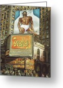 Regionalism Greeting Cards - Broadway Billboard - New York Greeting Card by Peter Art Prints Posters Gallery