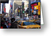 New York Signs Greeting Cards - Broadway colors Greeting Card by RicardMN Photography