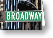 The Capital Of The World Greeting Cards - Broadway Sign Color 16 Greeting Card by Scott Kelley