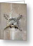Lion Gargoyles Greeting Cards - Brocks Monument 13 Greeting Card by Cyryn Fyrcyd