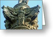 Lion Gargoyles Greeting Cards - Brocks Monument 7 Greeting Card by Cyryn Fyrcyd